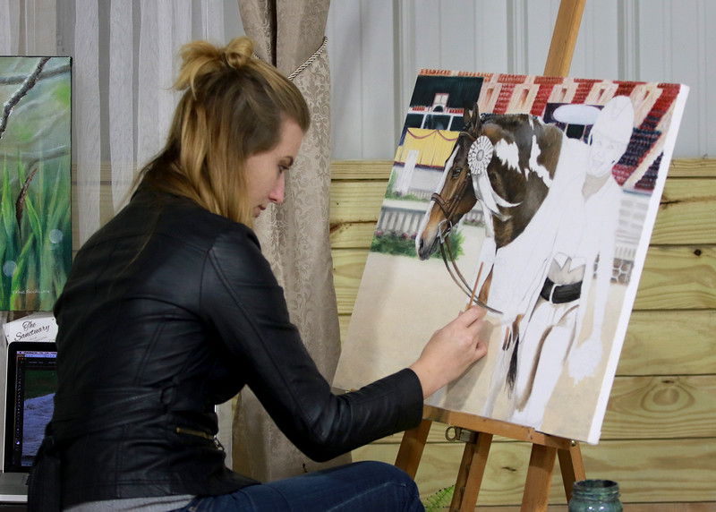 Kristy working on sofia pic