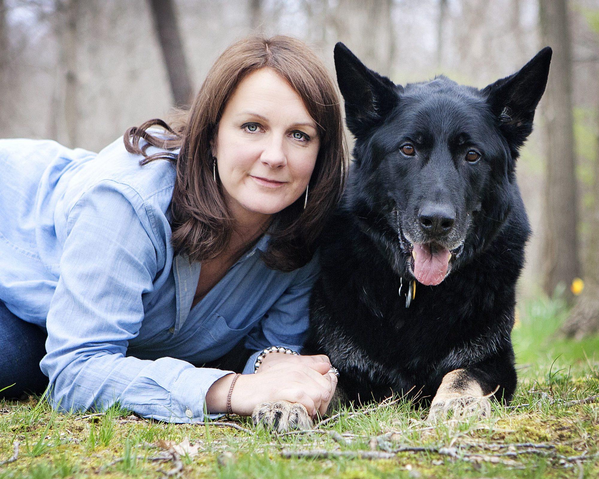Sarah and dog