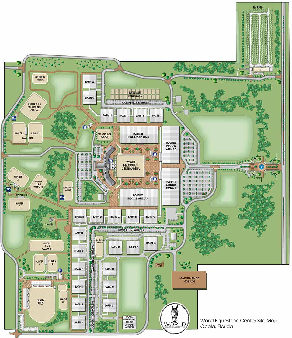 Outdoor Site Maps Examples: World Equestrian Center Ocala
