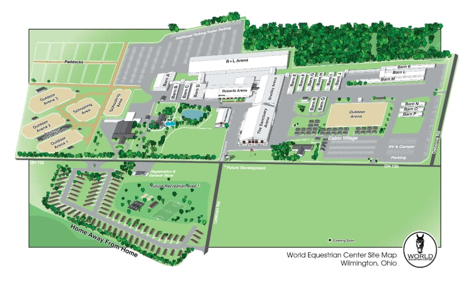 World Equestrian Center Spectators Showgrounds Maps Wec