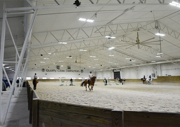 world equestrian bradley arena interior