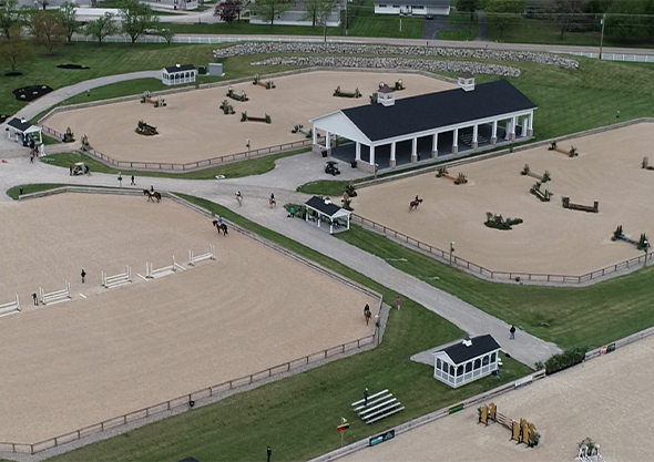wilmington equestrian outdoor arena aerial view