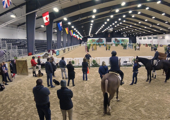 wilmington equestrian gathering place worship people gathered in arena with horses