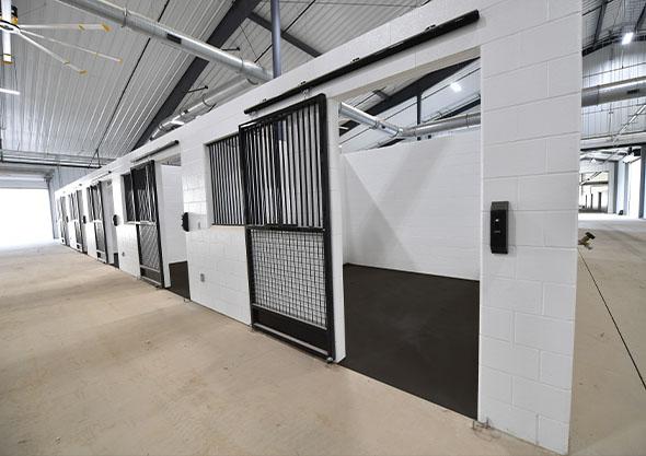 ocala equestrian stabling barns interior
