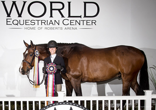 world equestrian center rider with horse award wilmington