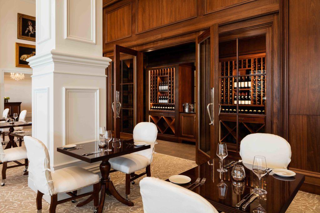 Stirrups and adjacent wine room